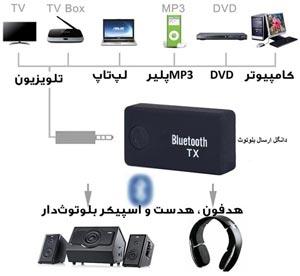 اتصال هدفون بلوتوث Bluetooth به تلویزیون HD-هدفون هدست و اسپیکر بلوتوث دار